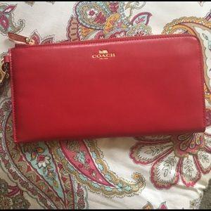 Coach oversized wallet / travel purse / wristlet